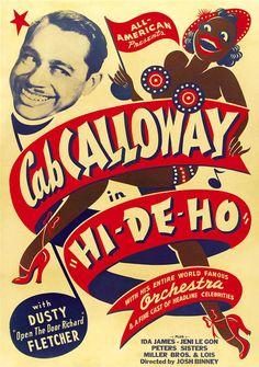 Vintage poster for musician Cab Calloway, Hi-De-Ho
