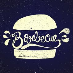 "Design by Phillippe Lanviere | #typography #design I like the bun outside of the ""bbq"""