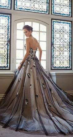 22 Black Gowns for Beautiful Brides - Yalan Wedding Couture