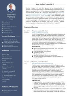 Physician Assistant Resume Physician Assistant Resume Curriculum Vitae And Cover Letter