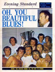 "May 1971: ""Oh, You Beautiful Blues!"" CHELSEA win the Cup Winners Cup..."