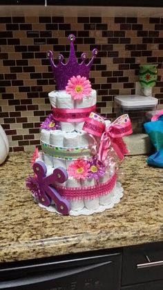 Diaper cake by Tania Kohn