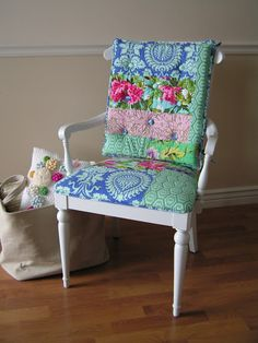 Tea Rose Home - Chair Makeover (this is gorgeous!)