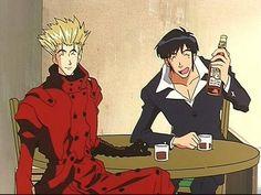 Vash & Wolfwood anime