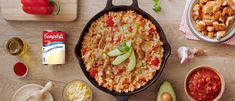 Our Easy Chicken Enchilada Skillet recipe uses cream of chicken soup and salsa to perfectly season the dish. This 30 minute recipe cooks in one pan, making clean up quick and easy. Easy Chicken Pot Pie, Cream Of Chicken Soup, Chicken Recipes, Chicken Rice, Mushroom Chicken, Frozen Chicken, Chicken Broccoli, Butter Chicken, Crack Chicken