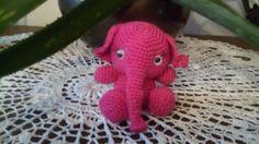 Éléphanteau rose au crochet : Jeux, jouets par crochetettricot
