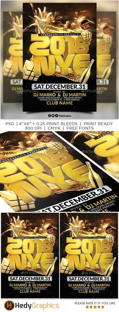 2018 #Nye #Party #Flyer - Events Flyers