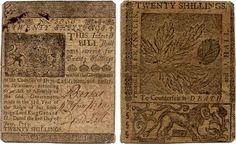 20 Shillings, The Colony Of Delaware (1759) - Printed By Benjamin Franklin