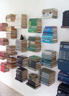 floating book organization | via life as a moodboard blog