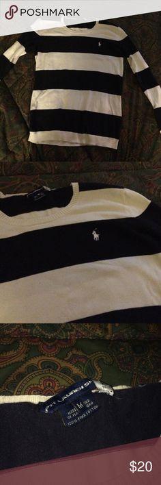 flawless Ralph Lauren Sport sweater no flaws cream and black Ralph Lauren Sport M sweater. 100% pima cotton Sweaters Crew & Scoop Necks