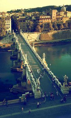 Ponte Castelo de Santo Angelo, Roma, Itália