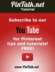 Subscribe to our YouTube channel for #video tutorials of #Pinterest for business tips and tricks #DIY
