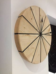 Circular wooden clock made up of 12 segments, Dimension 450mm diameter but can make to any dimension required.