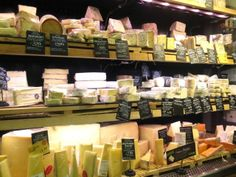 Cheese counter at Whole Foods, London
