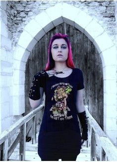 Alice by Rock Dolls Ladies Fitted Vest Goth Alternative Fantasy