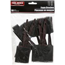 Tool Bench Hardware Foam Paint Brushes, 10-ct. Packs
