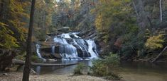 There is also one county in Georgia that is home to 34 different falls, which seems like one heck of an adventure waiting to be had. Beach Camping, Camping Life, Vacation Places, Vacation Spots, Waterfalls In Georgia, Hiking In Georgia, Ludington State Park, Walking In Nature, Day Trip