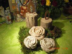 Beton giessen -Rostlook -  Betonkerze mit Flamme zum Advent...ganz einfach