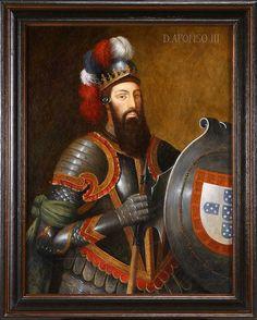 Dom Afonso III O Bolonhês, quinto rei de Portugal. Nasceu em 1210 e faleceu em 1279 o segundo filho de Dom Afonso II. Reinou 1248-1279. Casou com D. Matilde de Bolonha em 1235 nao tiveram filhos. Em 1253 Casou com D. Beatriz de Castela e tiveram 7 filhos