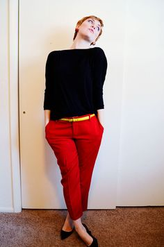 Burda 7447 from A Fashionable Stitch » sartorial sewing. These are awesome.