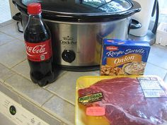 Coca Cola Roast - i used pepsi max and added a boullion cube.  it was scrumptious!   and i made some gravy to go with it!