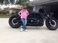 My baby loves her Harley V Rod, Baby Love, Love Her