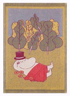 Moomin tea towel