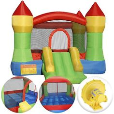 Cloud 9 Mighty Bounce House - Inflatable Bouncing Jump and Slide with Air Blower - Castle Theme Cloud 9 Bouncers,http://www.amazon.com/dp/B005XOMD6C/ref=cm_sw_r_pi_dp_HRbctb1QPE7T6SBD