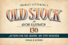 Check out Old Stock-Adobe Illustrator Actions by Borges Lettering on Creative Market