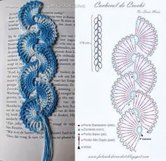 Bilderesultat for crochet bookmarks Crochet Bookmark Pattern, Crochet Belt, Crochet Edging Patterns, Crochet Lace Edging, Crochet Bookmarks, Crochet Diagram, Crochet Bracelet, Crochet Books, Crochet Gifts