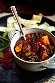 Chunky Pumpkin Black Bean Chili