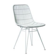 Cebu Rattan Dining Chair White