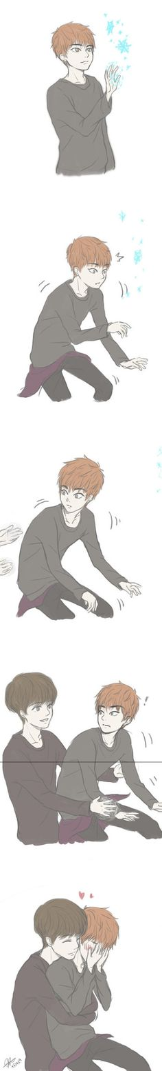 Luhan Using His Super Natural Powers The Right Way XD Xiuhan Feels Nest