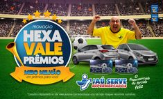 No próximo dia 18, quarta-feira, ocorrerá o sorteio Final da Promoção Hexa Vale Prêmios do Supermercados Jaú Serve, com transmissão ao vivo, a partir das 19h, pelo Facebook Oficial do Supermercados Jaú Serve https://www.facebook.com/JauServeOficial/. Serão sorteados 02 Smart TV LED 70' LG...