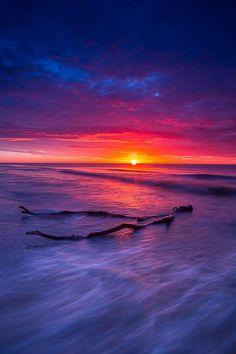 Balmedie Beach at sunrise, Aberdeenshire