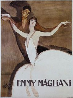 Jean-Gabriel Domergue (French 1889–1962) Emmy Magliani poster.