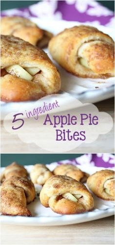 Easy Crescent Apple Pie Bites dessert recipe from Everyday Made Fresh