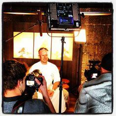 Chef Shaun Presland being filmed Great Places, Behind The Scenes, Restaurants, Film, Movie, Film Stock, Restaurant, Cinema, Films