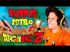 Cómo Dibujar al Rubius estilo Dragon Ball │Dragon Ball Super  Videos  - YouTube