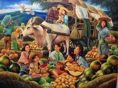 Dante Hipolito : Caravan Series Filipino Art, Filipino Culture, Philippine Art, Chinese Landscape Painting, Philippines Culture, Art Village, Fruit Painting, Thai Art, Painting People