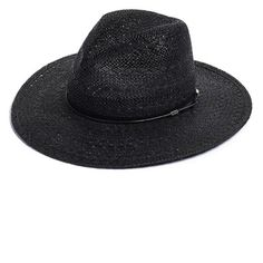 rag & bone Wide Brim Straw Fedora ($225) ❤ liked on Polyvore featuring accessories, hats, black, straw fedora, fedora hat, wide brim fedora, wide brim straw fedora and rag & bone