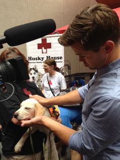 Andrew Rannells at Broadway Barks