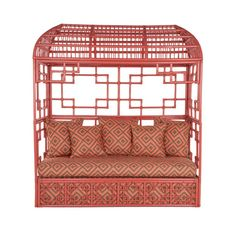Fabu faux 'boo Hollywood Regency meets Chinoiserie in Palm Beach for a Singapore Sling - perfect coral pink
