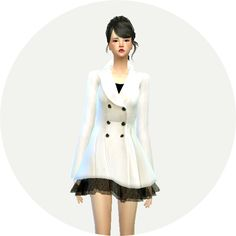 Sims 4 CC's - The Best: Winter Coat for Females by Sims 4 Marigold
