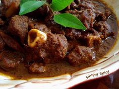 "Yet another mutton curry, but then this is for RCI : Karnataka , that Asha of "" Foodie's Hope "" is hosting. This is a mangalorian recipe,. Goat Recipes, Veg Recipes, Spicy Recipes, Curry Recipes, Indian Food Recipes, Asian Recipes, Chicken Recipes, Cooking Recipes, Indian Foods"