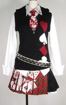 Queen of hearts uniform idea