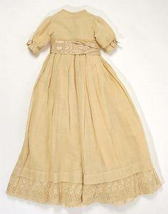 Christening Ensemble    Date:      1886  Culture:      American (probably)  Medium:      cotton, silk