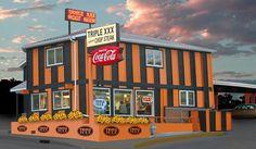 Triple XXX Family Restaurant in Lafayette, IN.  Try the Triple XXX Root Beer Frost.  In business since 1929.