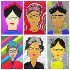 Kim & Karen: 2 Soul Sisters (Art Education Blog): Fabulously Frida...Frida Kahlo that is! http://2soulsisters.blogspot.com/2016/10/fabulously-fridafrida-kahlo-that-is.html