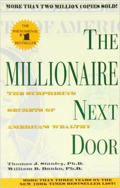 The Millionaire Next Door: Amazon.co.uk: Thomas J. Stanley, William D. Danko: 9780671015206: Books.  The book that makes you realise becoming a millionaire isn't actually as hard as you thought.  Via http://www.OnlineBusinessTransformation.com/?refid=1007